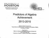 Predictors of Algebra I Achievement