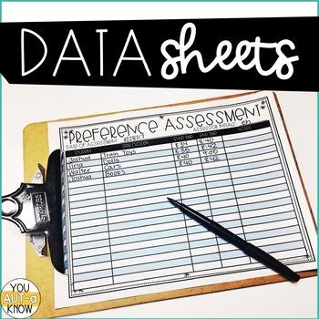 Preference Assessment Mega Pack for Special Education