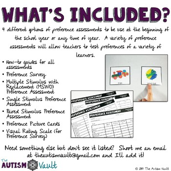 Preference Assessment Pack for Special Education