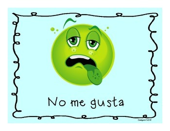 Preferences-I like/ I don't like- Me gusta y No me gusta Posters in Spanish