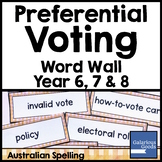 Preferential Voting Word Wall - Australian Government