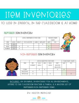 Preferred & Non-Preferred Item Inventories