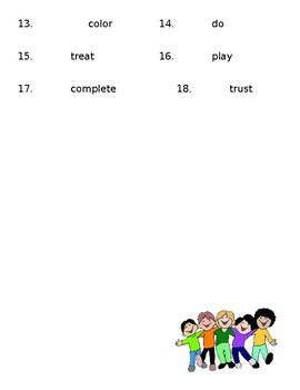 Preffix, suffix, root practice