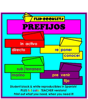 Prefijos (Flip Books: Prefixes in Spanish)