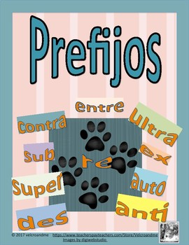 Prefijos -Sorting Game in Spanish- 132 words with prefixes