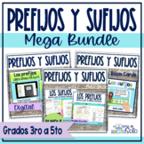 Prefijos y sufijos Spanish prefixes and suffixes Mega Bundle - Distance learning