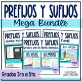 Prefijos y sufijos Spanish prefix and suffix Mega Bundle -