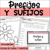 Prefijos y sufijos - Spanish prefixes and suffixes