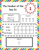 Prefilled Number of the Day Packet 1-10 for Pre-K / Specia