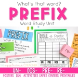 Prefixes Activities for Un Pre Re Dis