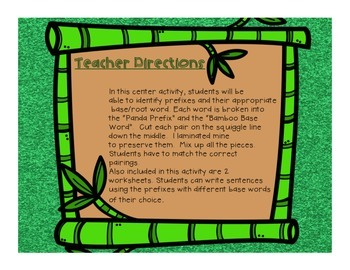 Prefix Activity