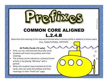 Prefix Activity (Common Core Aligned L.2.4.B)