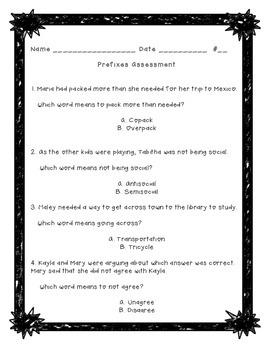 Prefix Assessment