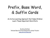 Prefix, Base Word, and Suffix Cards