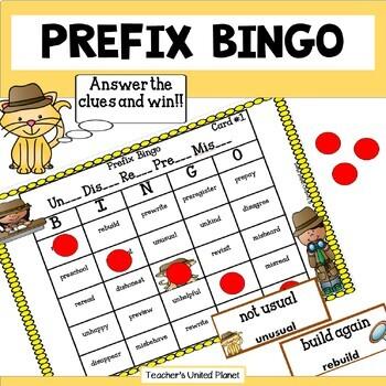 Prefix Bingo Freebie!