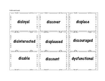 Prefix Breakdown