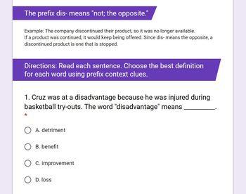 Context Clues: Prefixes dis-, mis-, re-, un- [Print & Digital]