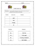 Prefix Cut and Paste Assessment