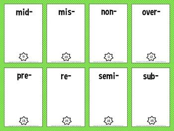 Prefix Trading Card Activities