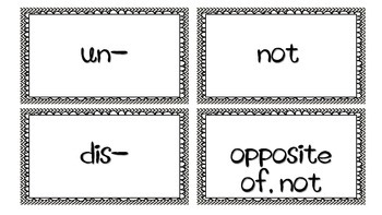 Prefix Flashcards