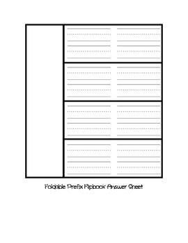 Prefix Foldable Flipbook
