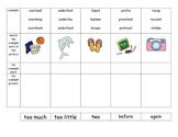 Prefix Foldable for over-, under-, pre-, re-, bi- Journey's Lesson 19 Dogzilla