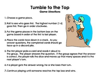 "Prefix Game - ""Tumble to the Top"""