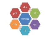 Prefix Game with spinner and ten cards