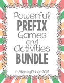 Prefix Games, Activities, and Assessments BUNDLE with PRE, RE, UN, and MIS