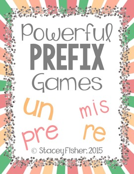 Prefix Games with PRE, RE, UN, and MIS: Memory, BINGO, and I Have Who Has