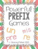 Prefix Games with PRE, RE, UN, and MIS: Memory, BINGO, and