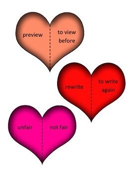 Prefix Heart Activity : Un- Pre- Re- Dis-
