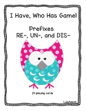Prefix I Have, Who Has Game!