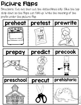 Prefix Interactive Notebook Activities: Pre- | 5  Engaging Activities