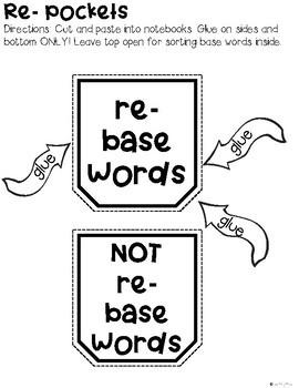 Prefix Interactive Notebook Activities: Re-   5  Engaging Activities