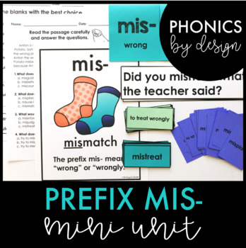Prefix MIS- Phonics by Design Mini Unit