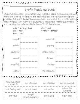 Prefix Match and Mark