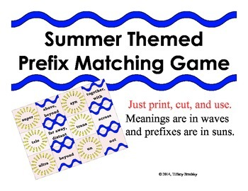 Prefix Matching Game of Prefixes and Meanings