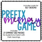 Prefix Memory Game