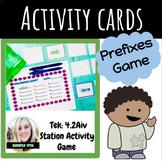 Prefix Memory Game (NEW ELAR TEKS fourth grade)