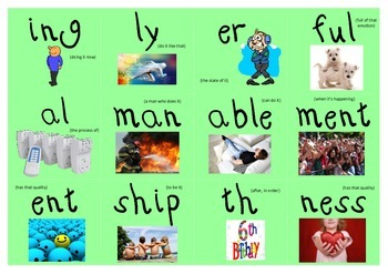 Prefix Memory Match Game AND Suffix Memory Match Game