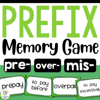 Prefix Match-Up Game (pre, over, mis)