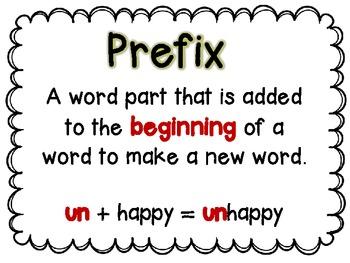 Prefix Mini Lesson and Word Work