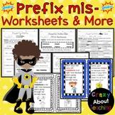 Prefix Mis- Worksheets & More
