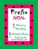 Prefix (NON) Memory Match and Task Cards