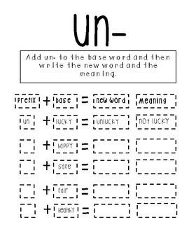 Prefix Pack! (re- and un-)