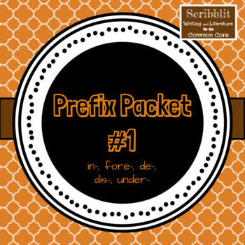Prefix Packet 1 (un, re, mis, over, sub)