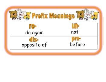 Prefix Pals (un, re, dis, pre)