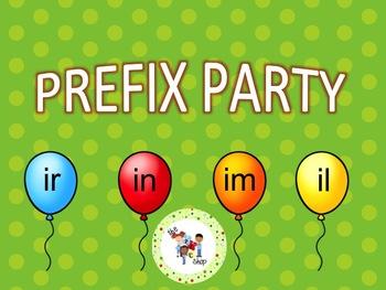 Prefix Party PowerPoint