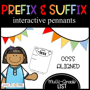 Prefix & Suffix Pennants/Cross-Curricular- RF.4.3